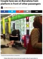 【海外発!Breaking News】カップルが地下鉄のホームで性行為! 周囲の人々ただ唖然(スペイン)