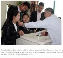 【海外発!Breaking News】双子同士2組のソックリ夫婦 「トラブルが多くて」整形手術へ(中国)