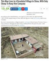 【海外発!Breaking News】10年間、人口たった1人の村(中国)