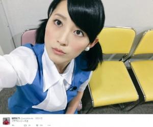 フチ子風な福田彩乃(出典:https://twitter.com/yanofukuda)