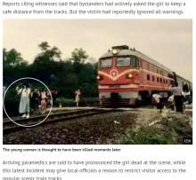 【海外発!Breaking News】自撮りに夢中で列車にはねられた少女 その寸前の衝撃写真が流出(中国)