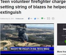 【海外発!Breaking News】ボランティア消防団青年隊員、放火しては消火活動で逮捕(カナダ)