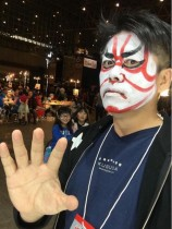 【エンタがビタミン♪】ホリエモンの歌舞伎メイクが大ウケ 子どもたちも笑顔見せる