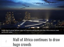 【海外発!Breaking News】南アフリカ最大のショッピングモール、オープン初日に窃盗続出 40名逮捕