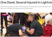 【海外発!Breaking News】落雷被害、欧州各地で相次ぐ 独サッカー試合会場では33名救急搬送