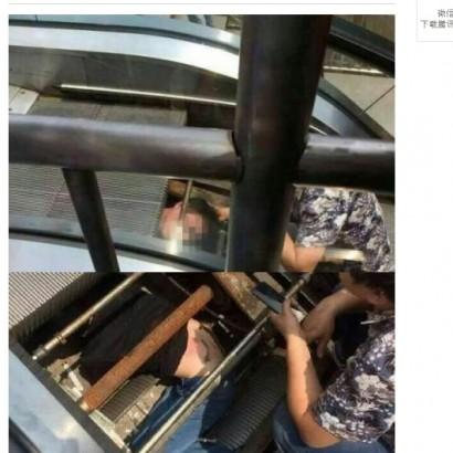 【海外発!Breaking News】中国・重慶市でエスカレーター事故 作業員が回転軸に巻き込まれる