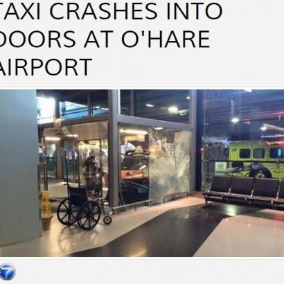 【海外発!Breaking News】JALも使用のターミナルにタクシー突っ込む シカゴ・オヘア国際空港で