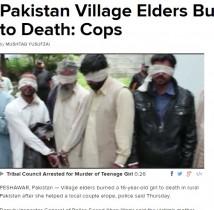 【海外発!Breaking News】隣人の駆け落ちを助けた少女、村の男15名に焼き殺される(パキスタン)