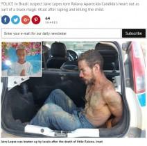 【海外発!Breaking News】10歳少女をレイプ、その心臓をえぐりとった男 黒魔術の儀式か(ブラジル)