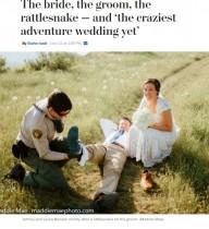 【海外発!Breaking News】結婚式の写真撮影で猛毒ヘビ現る 新郎をガブリ!(米)