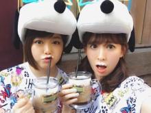 【エンタがビタミン♪】小嶋陽菜、峯岸みなみとUSJ満喫 泡ヒゲ姿が「可愛すぎ」