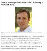【海外発!Breaking News】米UCLA銃撃事件 犠牲者は39歳工学部教授、2人の幼い子を残して