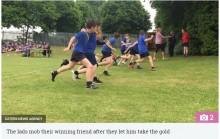 【海外発!Breaking News】小学校最後の競技会、ダウン症の少年を徒競走で1位に クラスメート達の秘密の計画(英)<動画あり>