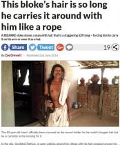 【海外発!Breaking News】トグロ巻く18.9m インドの60歳男性、ギネス「世界一長い髪」認定なるか