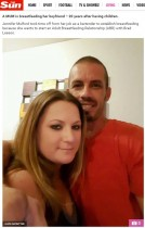 【海外発!Breaking News】彼女が彼氏に授乳するカップル「2時間ごとに吸ってもらうの」(米)