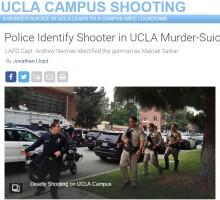 【海外発!Breaking News】UCLA教授を射殺した元大学院生「コンピューターコードを不正使用された」と思い込み