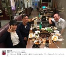 【エンタがビタミン♪】福田彩乃がモト冬樹、栗田貫一とレア3ショット 韓国でディナーショー
