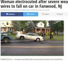 【海外発!Breaking News】落雷時は電線にも要注意! 米ニュージャージー州であまりにも不運な事故死