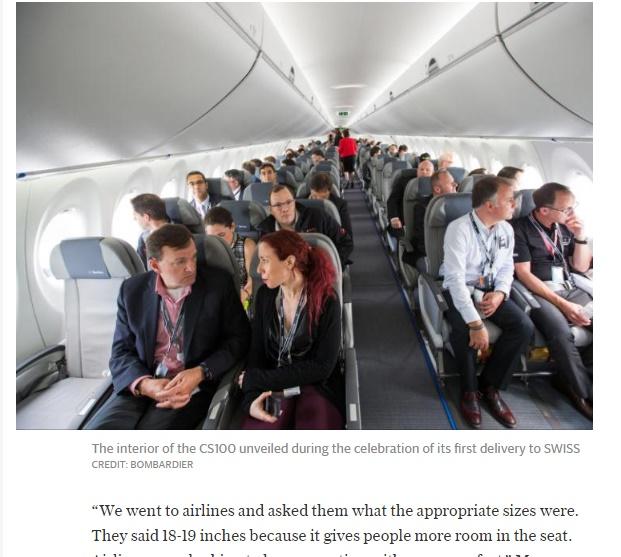 【海外発!Breaking News】白熱する旅客機の快適さ追求 座席は5センチ広く 可動式肘掛も(英)