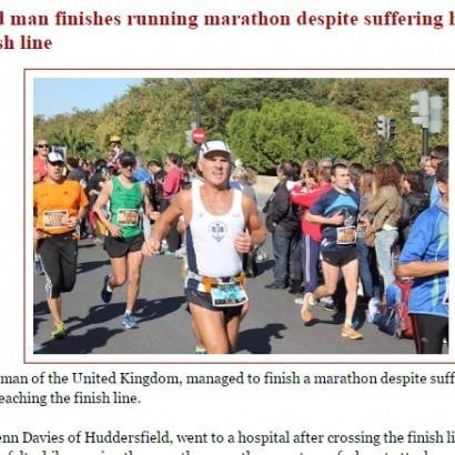 【海外発!Breaking News】マラソン中に心臓発作も完走した51歳男性 その1か月後には…(英)