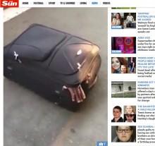 【海外発!Breaking News】スイスの駅でスーツケースから不法移民 予想外の大男に仰天<動画あり>