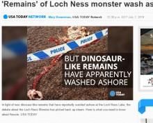 【海外発!Breaking News】ネッシーの死骸? ネス湖で謎の死骸にひと騒動(英)