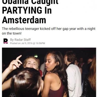 【海外発!Breaking News】オバマ大統領の18歳長女 アムステルダムのナイトクラブで激写される