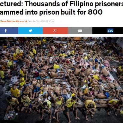 【海外発!Breaking News】定員20名の監房に200名が雑魚寝 地獄のようなマニラの刑務所