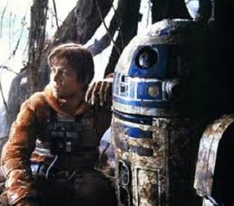 R2-D2(右)を演じたケニー・ベイカーが死去(出典:https://twitter.com/hamillhimself)