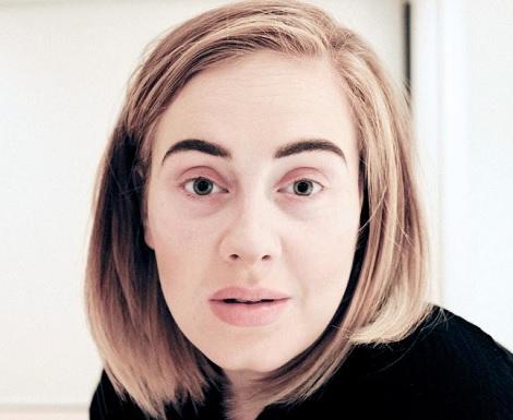 【イタすぎるセレブ達】アデル、意外すぎるスッピン顔を公開