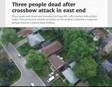 【海外発!Breaking News】クロスボウで3名殺害 トロント市の閑静な住宅街に大きな悲鳴