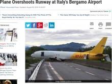 【海外発!Breaking News】衝撃のオーバーラン イタリアの空港で貨物機フェンスを突き破り高速道路へ!