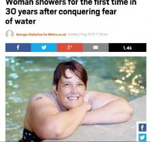 【海外発!Breaking News】30年ぶりにシャワーを浴びた女性 1時間の催眠療法が起こした奇跡(英)