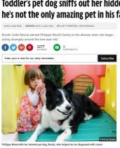 【海外発!Breaking News】ペットのボーダーコリー犬、2歳女児の白血病を嗅ぎ分ける(英)