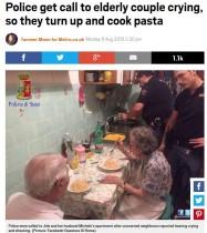 【海外発!Breaking News】孤独な老夫婦に手作りパスタをふるまった警官「笑顔をもたらすことも大切な仕事」(伊)