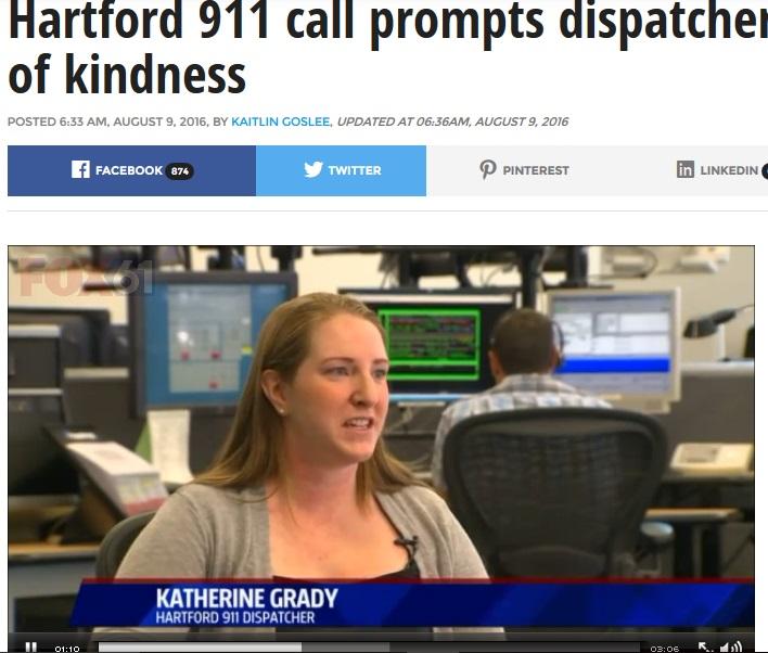 【海外発!Breaking News】911コールでゴミ出しを頼んだ高齢者に女性スタッフが快く対応(米)