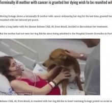 【海外発!Breaking News】「愛犬に会いたい」末期がん女性の最期の願い 病院も協力(ブラジル)