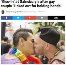 【海外発!Breaking News】ゲイカップル 「不快だ」とスーパーから追い出される(英)