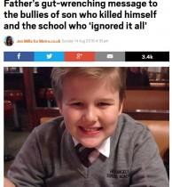 【海外発!Breaking News】いじめで自殺した13歳少年の父親が遺書を公開 無責任な学校側の対応に怒り(米)