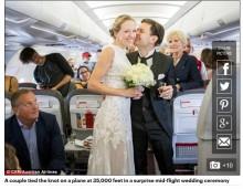【海外発!Breaking News】乗員・乗客全員が仕掛け人 上空1万メートルのプロポーズ
