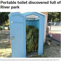 【海外発!Breaking News】公園のトイレから大量の大麻が発見される(米)
