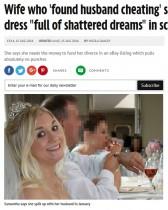 """【海外発!Breaking News】""""不幸""""なウエディングドレスをオークションに出品、高額で落札される(英)"""