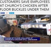 【海外発!Breaking News】レストラン調理場で床が抜け従業員3名が転落 そこに巨大フライヤーが!(米)