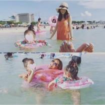 【エンタがビタミン♪】ほしのあき沖縄の海を満喫 ママ友・SHEILAが感心「良く食べるのに細い!」