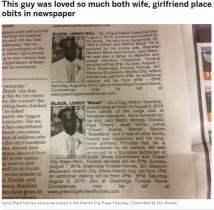 【海外発!Breaking News】妻と愛人の二重生活を送った男性が死去 死亡広告も2件 葬儀ではひと悶着勃発か(米)