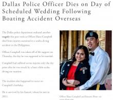 【海外発!Breaking News】悲運すぎた警察官 挙式を予定していた28回目の誕生日に死亡(フィリピン)