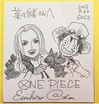 【エンタがビタミン♪】『ワンピース』でバカラ役の菜々緒、尾田栄一郎さんのイラスト色紙に歓喜