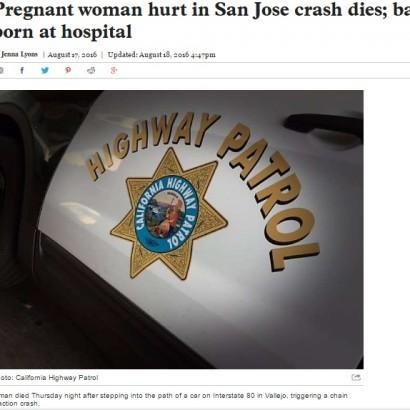 【海外発!Breaking News】18歳妊婦が交通事故死 帝王切開で赤ちゃんを摘出(米)