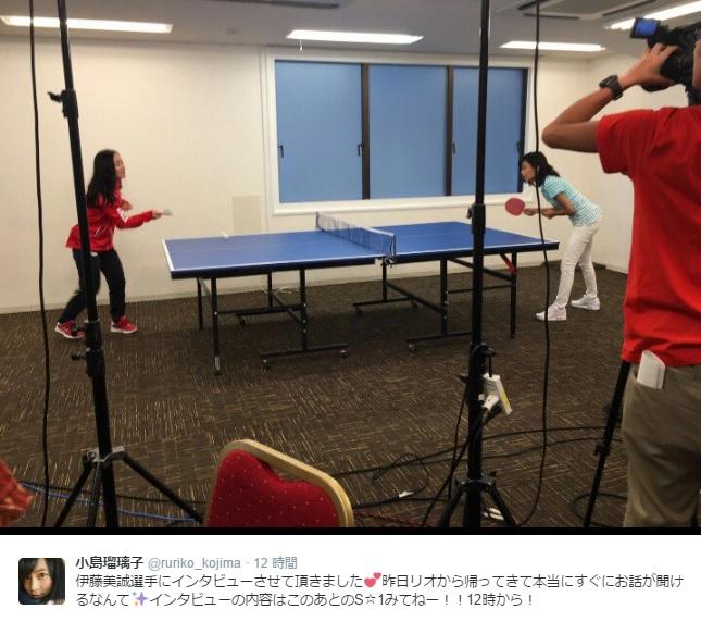 【エンタがビタミン♪】卓球・伊藤美誠選手とこじるりがハンデマッチ まさかの結果に「練習してもダメだ!」