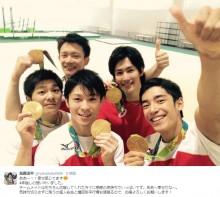 【エンタがビタミン♪】ウッチャン従兄「内村・金メダル男」 体操男子団体の快挙を祝福